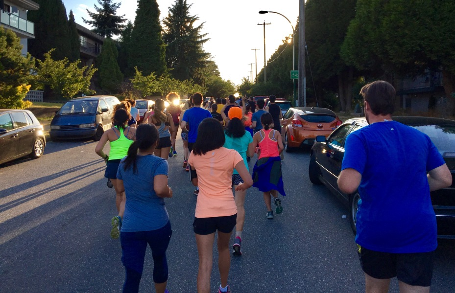 Fraser Street Run Club takes over the road in East Vancouver