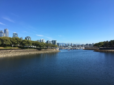 Facing east on the Vancouver False Creek Seawall