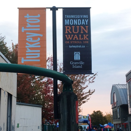 Banner for Granville Island Turkey Trot 2017